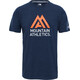The North Face Wicker Graphic Crew Shirt Men Urban Navy Heather/Persian Orange